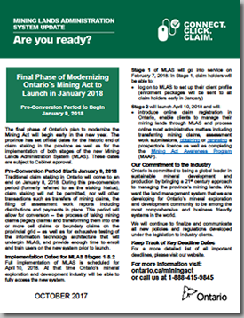 Final Phase of Ontario's Mining Act Modernization: An Update